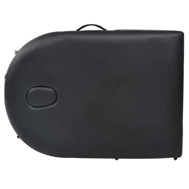 vidaXL Sulankst. masaž. stal., 10 cm storio, su 2 atram., oval., juod.[8/12]