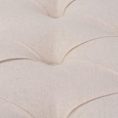 vidaXL Suolelis iš lino, mediena, 150x40x48cm, kreminės baltos sp.[6/7]