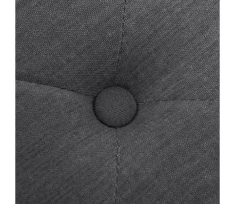 vidaXL Klupa od tkanine i masivnog drva 150x40x48 cm svijetlo siva[5/7]