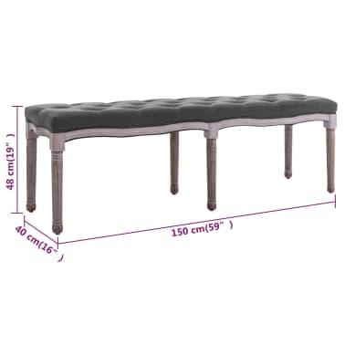 vidaXL Suolelis, linas, mediena, 150x40x48cm, šviesiai pilkos sp.[6/7]