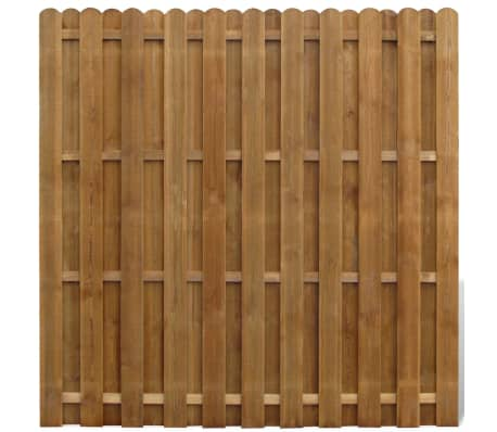 vidaXL Bohlenzaun-Element Kiefernholz 180×180 cm[1/3]