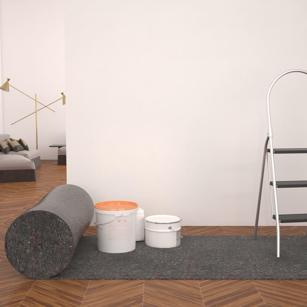 vidaXL Protecție antiderapantă podea zugravi, 50 m, 180 g/m², gri imagine vidaxl.ro