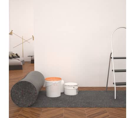 vidaXL Fieltro antideslizante de pintor 50 m 180 g/m² gris 3 unidades[1/6]