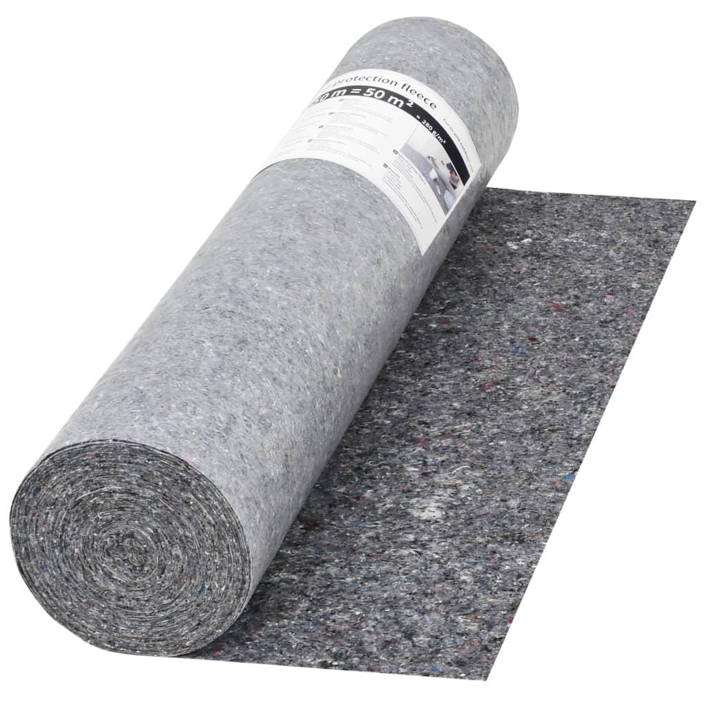 Protiskluzové folie, malířský fleece, 50 m 280 g/m², šedá
