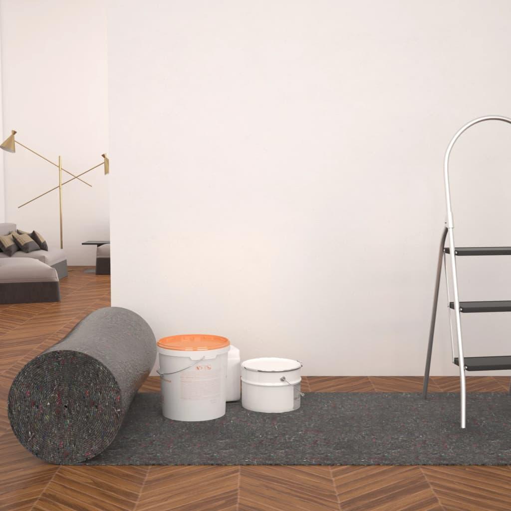 vidaXL Protecție antiderapantă podea zugravi, 50 m, 280 g/m², gri imagine vidaxl.ro