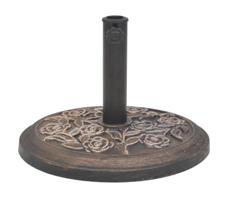 vidaXL Sonnenschirmständer Harz Rund Bronze 9 kg[2/7]