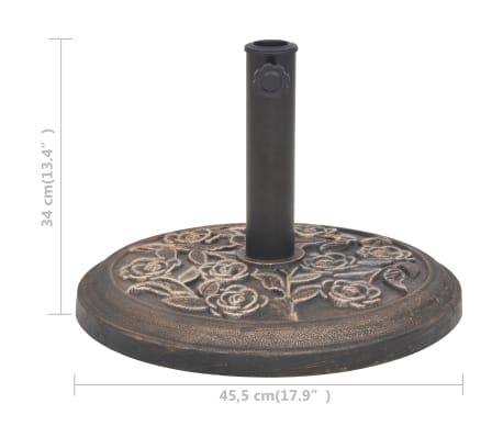 vidaXL Kruhový stojan na slnečník zo živice, bronzový, 9 kg[7/7]