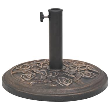 vidaXL Kruhový stojan na slnečník zo živice, bronzový, 9 kg[3/7]