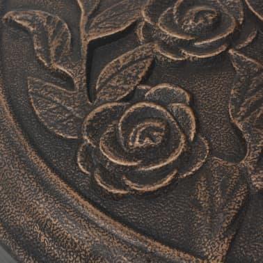 vidaXL Kruhový stojan na slnečník zo živice, bronzový, 9 kg[5/7]