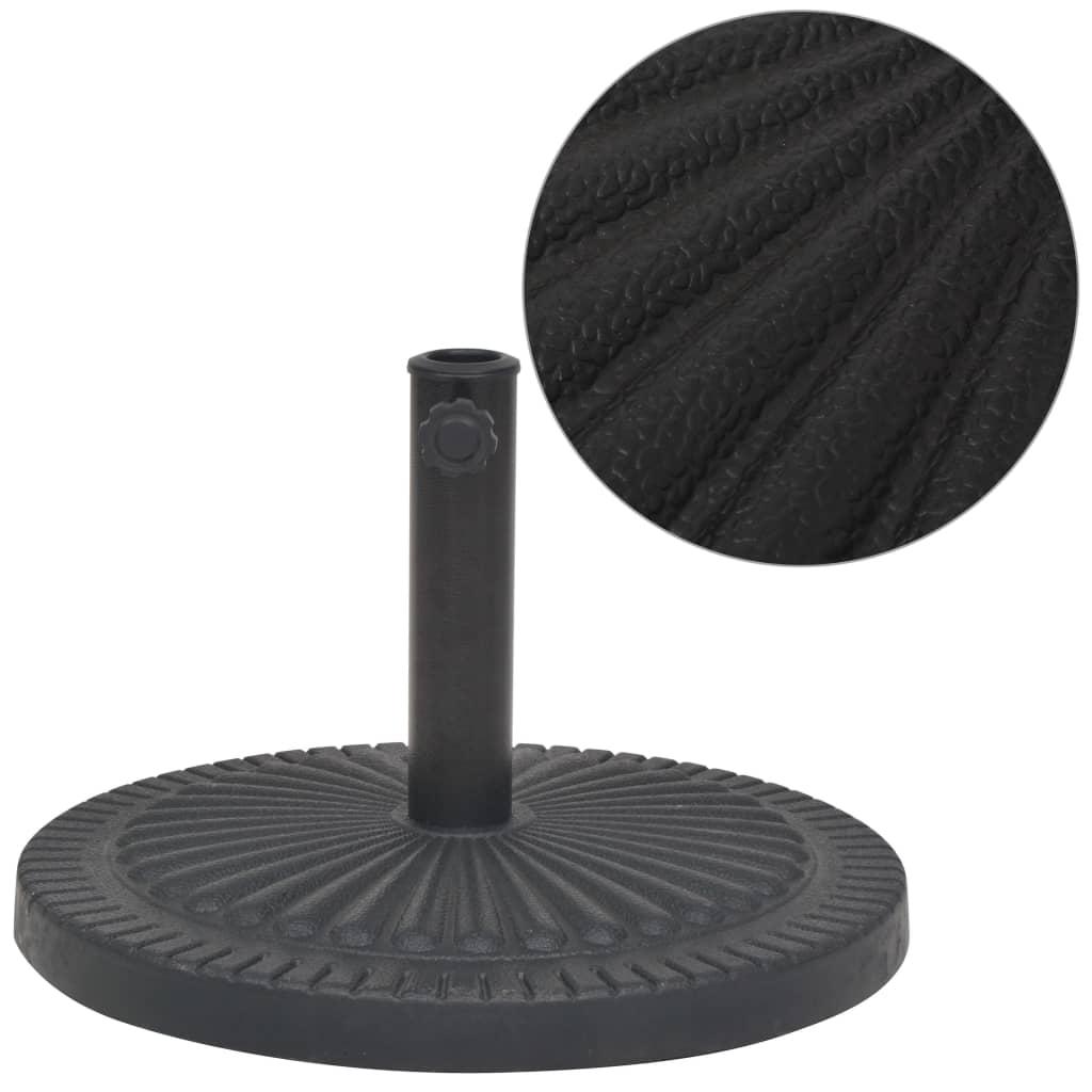vidaXL Suport umbrelă de soare, rășină, rotund, negru, 14 kg imagine vidaxl.ro