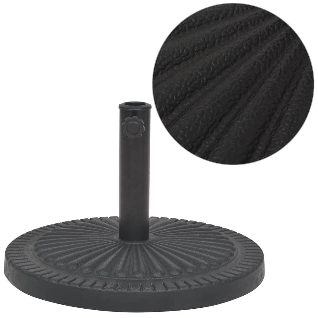 vidaXL Suport umbrelă de soare, rășină, rotund, negru, 29 kg imagine vidaxl.ro