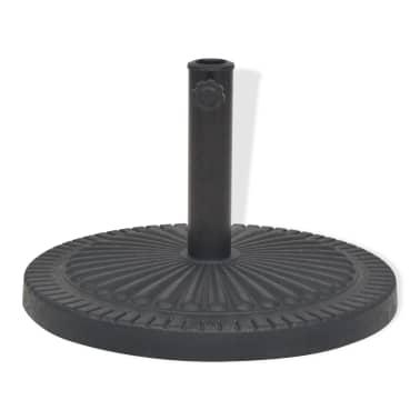 vidaXL Sonnenschirmständer Harz Rund Schwarz 29 kg[2/7]