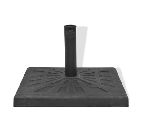 vidaXL Parasolvoet vierkant 19 kg hars zwart[3/8]