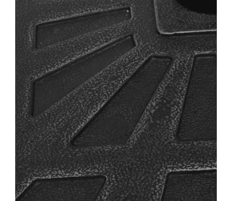 vidaXL Parasolvoet vierkant 19 kg hars zwart[6/8]