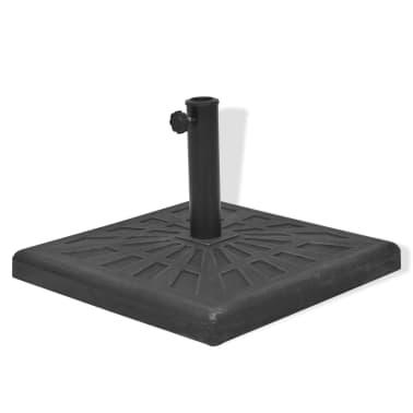 vidaXL Parasolvoet vierkant 19 kg hars zwart[4/8]