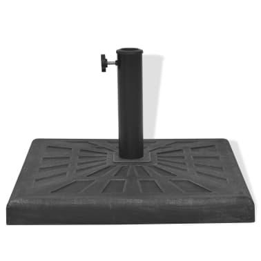 vidaXL Parasolvoet vierkant 19 kg hars zwart[5/8]