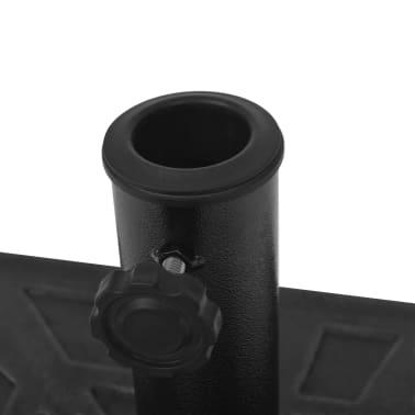 vidaXL Parasolvoet vierkant 19 kg hars zwart[8/8]