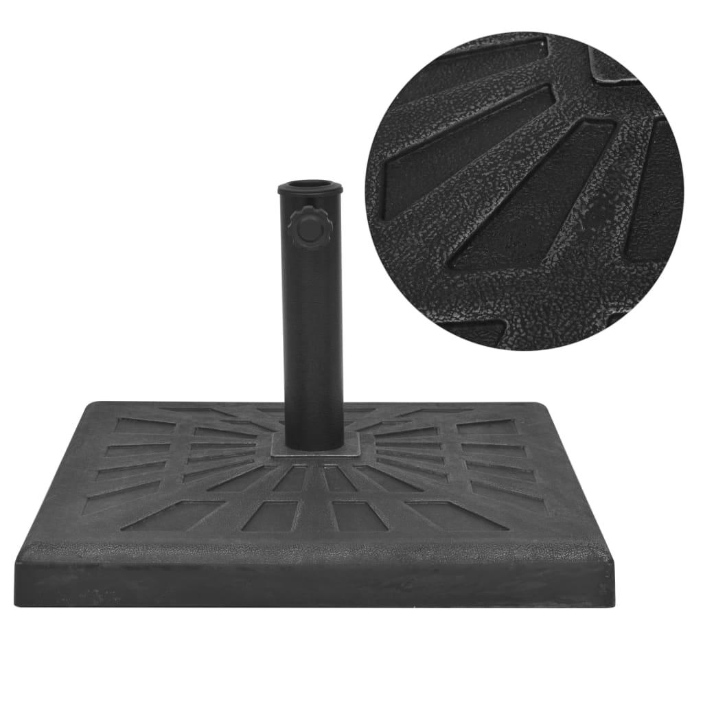 vidaXL Suport umbrelă de soare, rășină, pătrat, negru, 12 kg imagine vidaxl.ro
