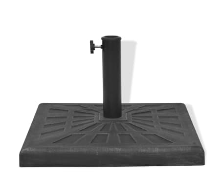vidaXL Parasol Base Resin Square Black 26.5 lb[4/8]