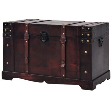 vidaXL Vintage Treasure Chest Wood 66x38x40 cm[2/9]