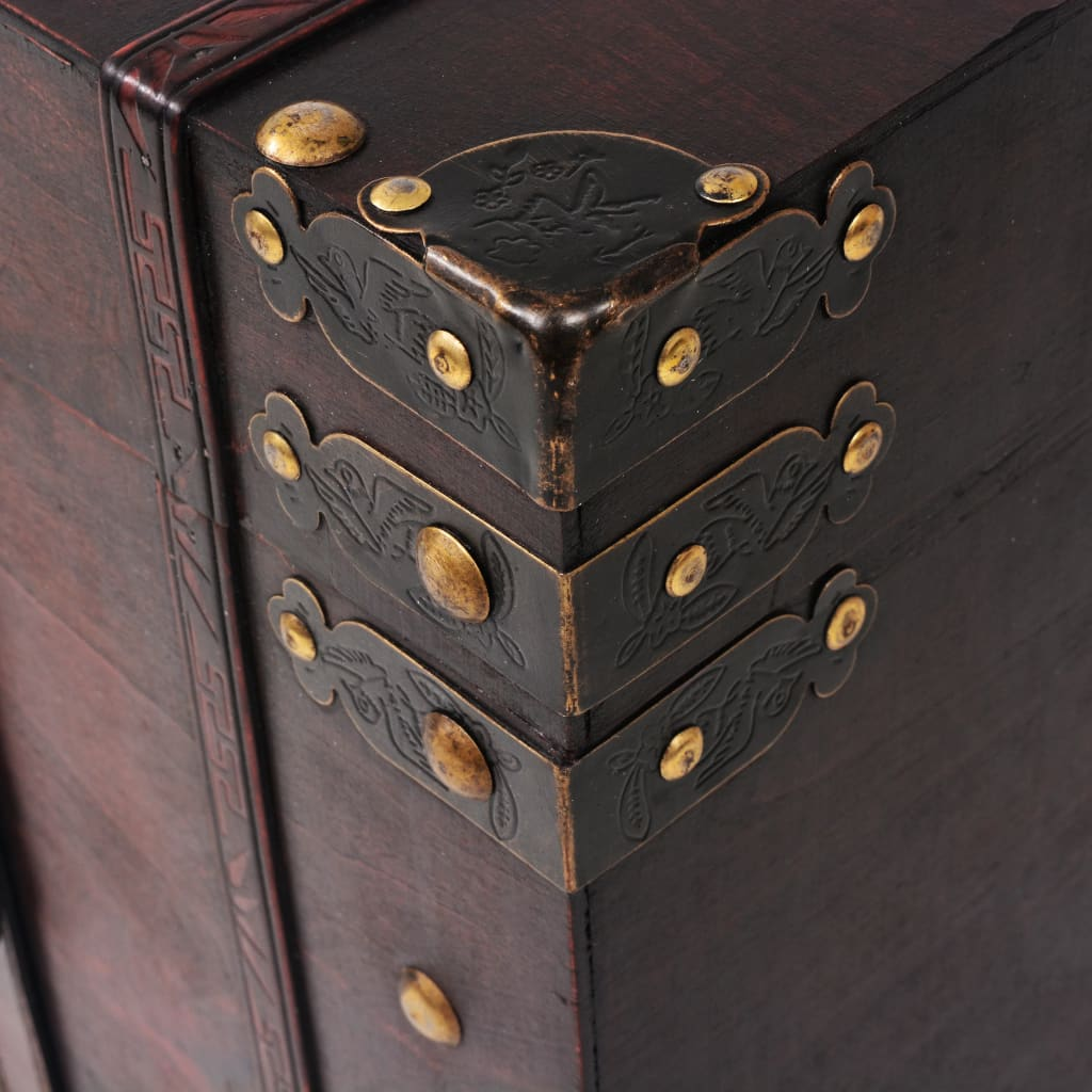 vidaXL Schatkist vintage stijl 66x38x40 cm hout