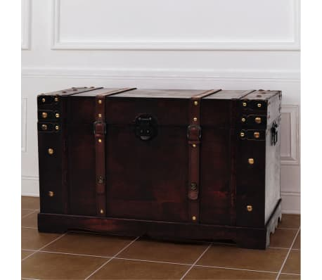 vidaXL Vintage Treasure Chest Wood 66x38x40 cm[3/9]