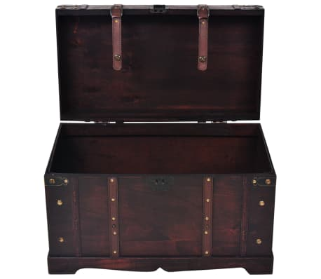 vidaXL Vintage Treasure Chest Wood 66x38x40 cm[5/9]