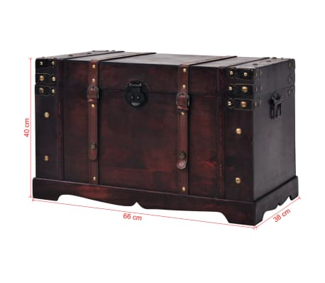 vidaXL Vintage Treasure Chest Wood 66x38x40 cm[9/9]