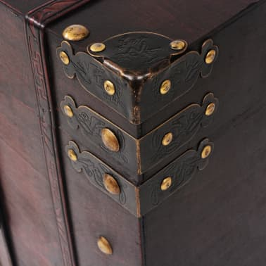 vidaXL Vintage Treasure Chest Wood 66x38x40 cm[6/9]