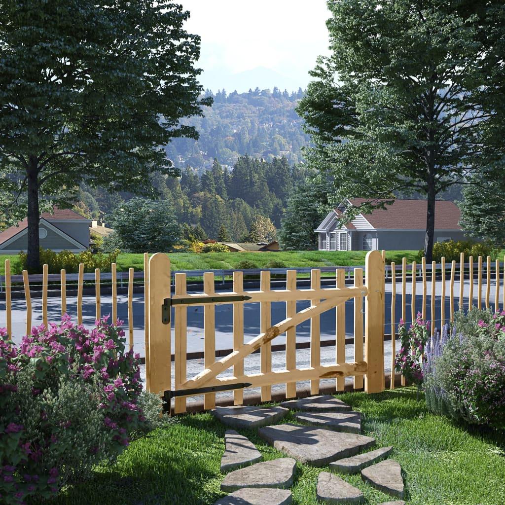 Zahradní branka, lískové dřevo, 100x60 cm