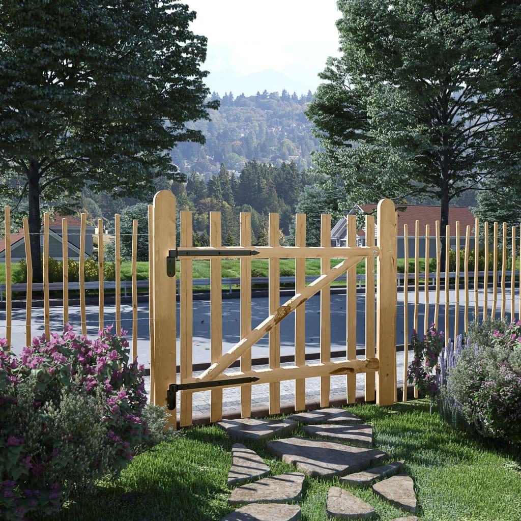 vidaXL Poartă simplă de gard, lemn de alun 100x90 cm vidaxl.ro