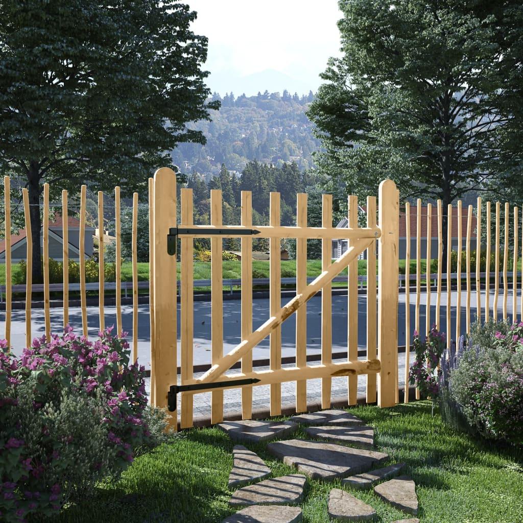 vidaXL Poartă de gard din lemn de alun 100 x 100 cm vidaxl.ro