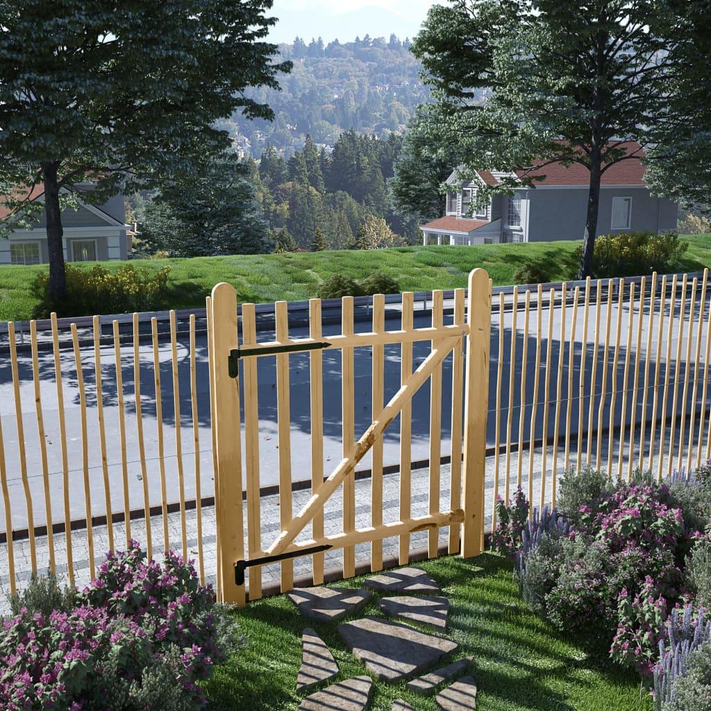 vidaXL Poartă de gard, lemn de alun 100x120 cm vidaxl.ro