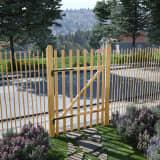 vidaXL Puerta para valla 100x150 cm madera de avellano