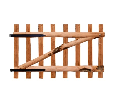vidaXL Enojna vrata za ograjo impregnirana leska 100x60 cm