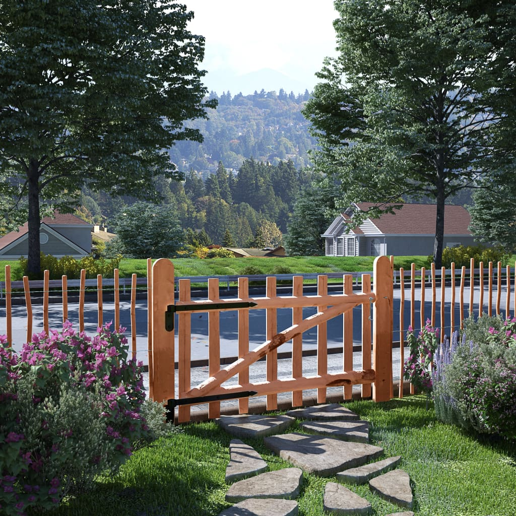 vidaXL Poartă de gard simplă, din lemn de alun, 100 x 60 cm vidaxl.ro