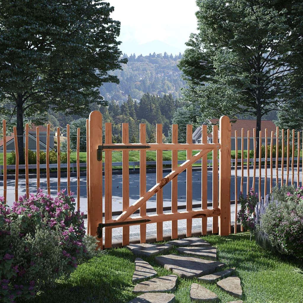 Zahradní branka, impregnované lískové dřevo, 100x90 cm