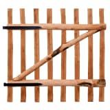 vidaXL Zahradní branka, impregnované lískové dřevo, 100x100 cm