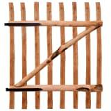 vidaXL Tvoros vartai, impregnuota lazdyno mediena, 100x120cm
