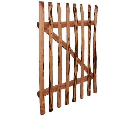 vidaXL Single Fence Gate Impregnated Hazel Wood Outdoor Garden Multi ...