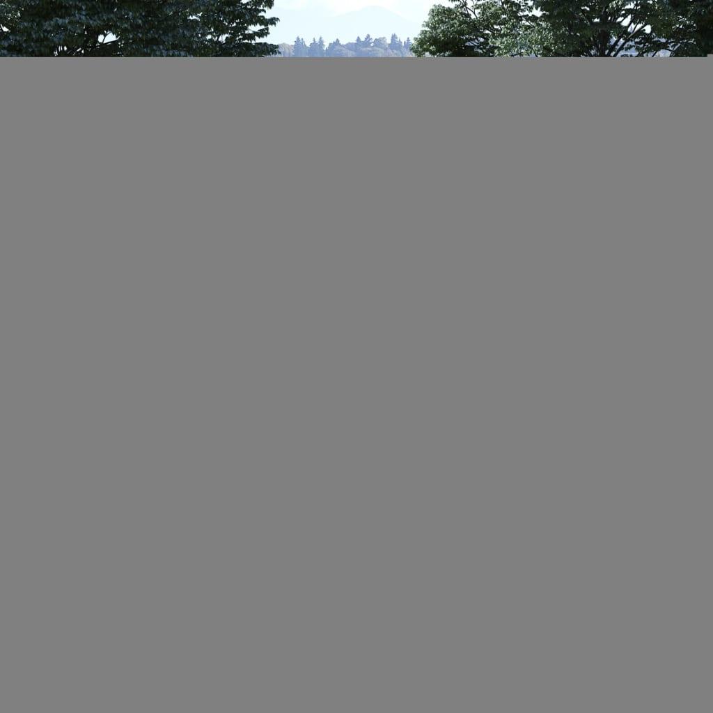 vidaXL Poartă de gard simplă, lemn de alun tratat, 100x120 cm vidaxl.ro