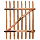 vidaXL Poarta de gard simplă, lemn de alun tratat, 100 x 150 cm