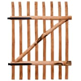 vidaXL Puerta para valla 100x150cm madera de avellano impregnada