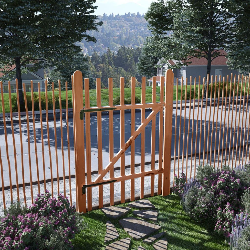 vidaXL Poarta de gard simplă, lemn de alun tratat, 100 x 150 cm vidaxl.ro
