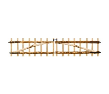 vidaXL Portillon double pour clôture Bois de noisetier 300 x 60 cm
