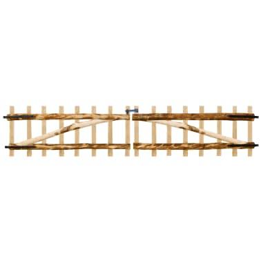 vidaXL Portillon double pour clôture Bois de noisetier 300 x 60 cm[1/5]
