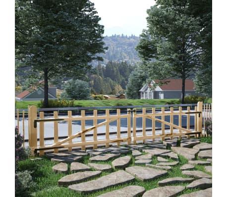 vidaXL Portillon double pour clôture Bois de noisetier 300 x 60 cm[2/5]