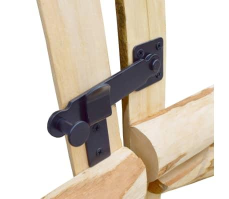vidaXL Portillon double pour clôture Bois de noisetier 300 x 60 cm[4/5]
