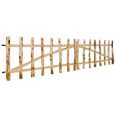 vidaXL Portillon double pour clôture Bois de noisetier 300 x 60 cm[3/5]