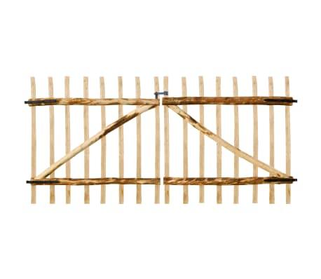 vidaXL Двойна порта, лешник, 300x150 см[1/5]